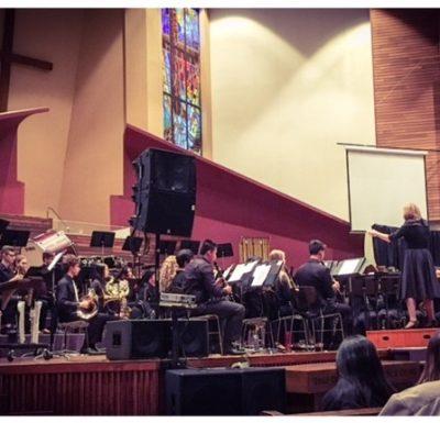 SD61 Students performing the British Columbia Music Educators Association Honour Ensembles